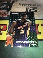 Panini Prizm Robert Horry Blue Green Base Card Lakers Holo