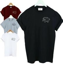 Geometric Elephant Pocket T-shirt Animal Vegan T SHIRT ADULT KIDS SM - XXXL