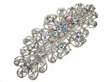 Floral Crystal Cluster Barrette Hair Clip Slide Hair Accessories UK