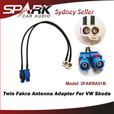 SP Twin Double Fakra Conversion Cable Radio Antenna For Skoda RNS 510 Seat