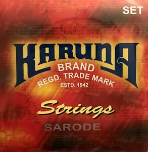 Karuna Complete Set Of Sarod Strings And Sympathetic Tarabh Professional Quality