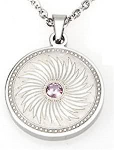 T-Prime 2774 Wings Medallion Rose Quartz Swarovski crystal sabo Design Tcm