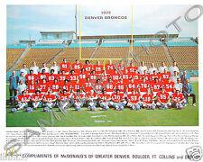 1972 DENVER BRONCOS NFL FOOTBALL 8X10 COLOR TEAM PHOTO PICTURE