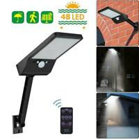 48 LED Solar PIR Motion Sensor Light Outdoor Yard Garden Wall Lamp Waterproof US