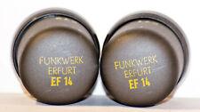 EF14 FUNKWERK RFT PAIR of TUBES VF14 NEUMANN TELEFUNKEN MICROPHONES 100% 1956