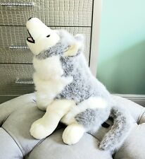 Vintage UNIPAK Plush WOLF HUSKY PUPPY DOG Stuffed Animal Cuddler LARGE 20""