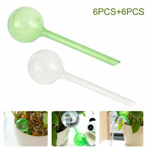 12X Plant Self Watering Globes Bulbs Ball Flower Automatic Feeder Waterer System