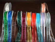"""25yards Sheer Organza Ribbon with Satin Edge 5/8"""", 7/8"""", 1 1/2"""""""