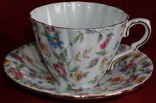 Gladstone England Porcelain Cup & Saucer-Floral Flower Chintz 6030