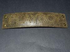 Playboy brown pierced holes strap bracelet 5.5 cm wide NEW Authentic