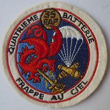 Insigne tissu ancien patch 4/35° RAP  Parachutiste feutrine  ORIGINAL France