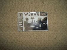 QSL RADIO CARD W3AWQ Collingswood NJ New Jersey 1931 real photo postmarked 1931