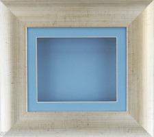 Antique Silver Deep Box Display frame Medals 3D 2D Items Art Baby Boy Casts Blue