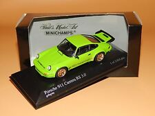 PORSCHE 911 Carrera RS 3.0 1974 GIALLO VERDE 40063121 Minichamps in 1/43 o V P