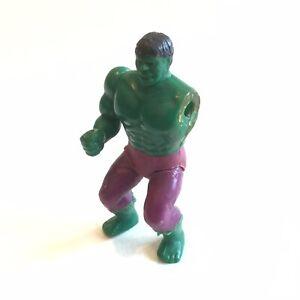 """1975 Mego HULK Action Figure Pocket Super Heroes Bent Knees Rare Variant 3.75"""""""