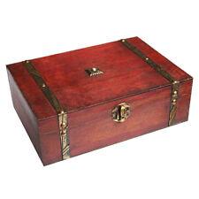 Rectangle Treasure Box Pirate Small Trunk Box for Jewelry Storage S9Q6 G4D7