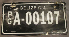 PUNTA GORDA BELIZE Expired 2000s COMMERCIAL Fiberglass License Plate - A-00107