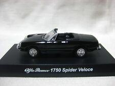 1:64 Kyosho Alfa Romeo 1750 Spider Veloce Black Diecast Model Car