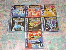 Pokemon Blue, Red, Yellow, Crystal, Silver & Gold Boxed Complete CIB PAL UK