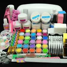 AU Post Acrylic&UV Nail Kit 9W UV Lamp Acrylic Powders Liquid Builder UV Gel Kit