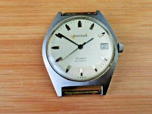 Vintage Sekonda 30 Jewels Mens Automatic Date Watch for Repair / Parts