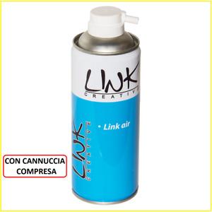 Aria compressa spray con cannuccia beccuccio bomboletta bombola 400ml pulizia pc