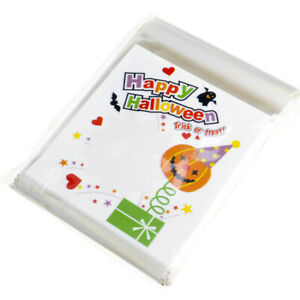 100Pcs Self Adhesive Halloween Candy Gifts Bag Chocolate Storage Bags Pouch
