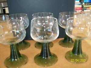 German Mosel Green wine glasses