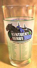 Official 2000 Kentucky Derby 126 Mint Julep Glass Fusaichi Pegasus 05-06-2000