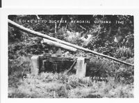 1945 WWII US Okinawa small Photo going up hill to Gen Buckner's Memorial