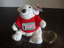 "Coca-Cola--Bean Bag Plush--Polar Bear Dressed In Tee Shirt--""Exclusive"" Tag--HTF"