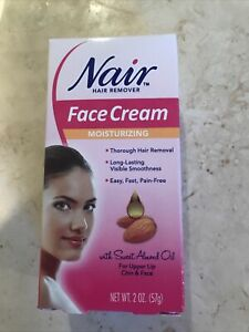 Nair Hair Remover Removal Moisturizing Face Cream for Women, w/ Sweet Almond Oil