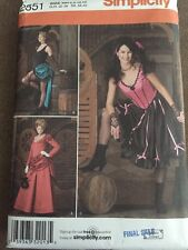 Simplicity Costumes Pattern 2851 Factory Folded New Sizes 6-12 Andrea Schewe