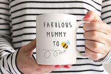 Fabulous Mummy To Bee Mug - Baby Shower Present/Gift - Bumble Bee/New Baby