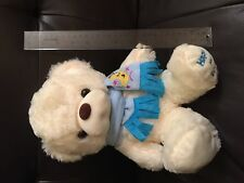 """12"""" plush bear blue scarf moon star Happy for Lovers great gift Wedding favor"""