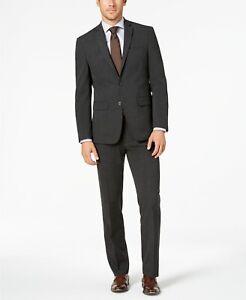 Van Heusen Men's Charcoal Flex Slim-Fit Business Suit 40L, 33W