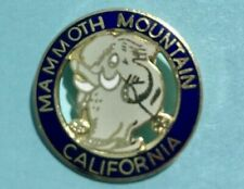 New listing Mammoth Mountain ,CA  Woolly Mammoth Logo  Blue Ski Pin