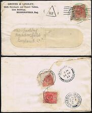 1923 Nigeria 1d x 3 on 1/2d Stationery Enugu Port Harbour to Huddersfield