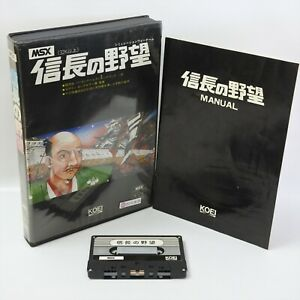 MSX NOBUNAGA NO YABO Cassette Tape Ver 1444 Japan Game msx