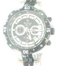 Bulova Marine Star Sports Chronograph Large Watch Black Men's 98B194