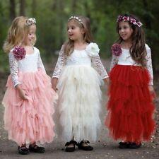 Girl Ceremonies Dress Baby Children's Clothing Tutu Kids Dresses For Girls New