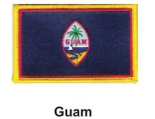 """GUAM FLAG EMBROIDERED PATCH - IRON-ON - NEW 2.5 x 3.5"""" FREE SHIPPING"""