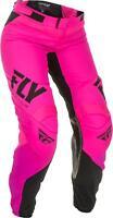 FLY RACING WOMEN'S LITE RACE PANTS NEON PINK/BLACK SZ 22 191361057908
