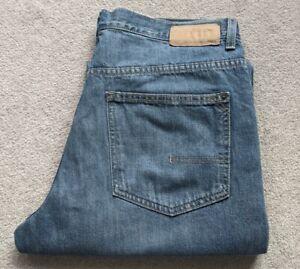 Men's Calvin Klein Jeans W34 L33 Relaxed Straight Leg Blue 100% Cotton