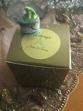 Limoges Trinket Box Frog With Dragonflies~Insect Clasp~!Excellent! Rare!Wow