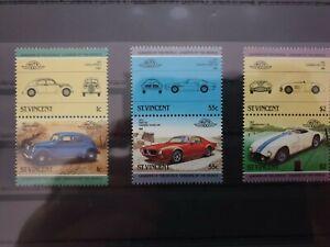 St Vincent - 1984 - cars  - 3 stamps  - MNH
