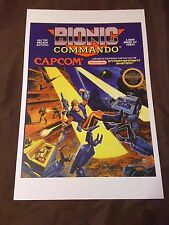 Bionic Commando 11x17 Box Art Poster - Nintendo NES No Game -