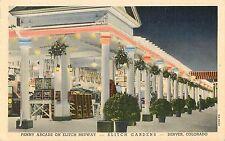 c1930s Penny Arcade, Elitch Gardens Amusement Park, Denver, Colorado Postcard