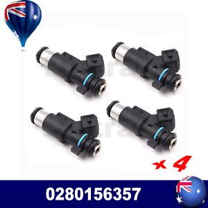 4* 0280156357 Fuel Injectors For Citroen C2 C3 Berlingo XSARA 1007 206 306 New