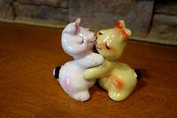 Vintage Van Tellingen Shakers Huggers Salt and Pepper Shakers Rabbits Bunny Hug